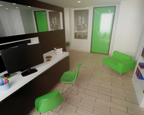 rendering interni uffici h2o ristrutturazioni